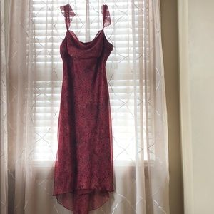 🌺Burgundy Chiffon Dress